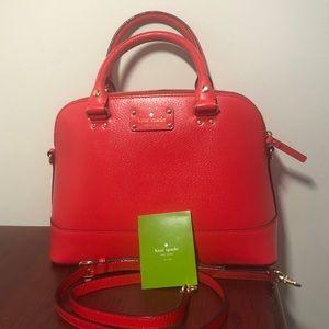 Top handle crossbody Kate Spade red handbag